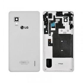 tapa trasera original LG optimus G E975 blanca