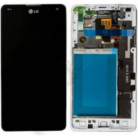 pantalla completa para lg optimus G e975 con marco color blanco