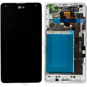 ecrã completa para lg optimus G e975 com marco cor branco
