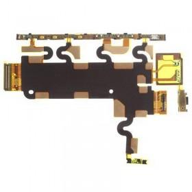 Flex con botones laterales y micrófono para Sony Xperia Z1, C6906, L39H
