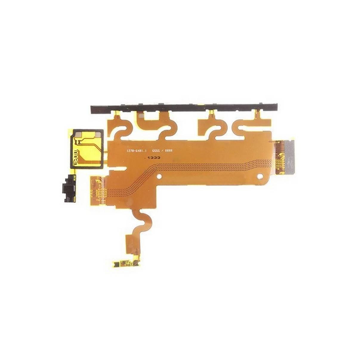 Flex com botões laterais e micrófono para Sony Xperia Z1, C6906, L39H