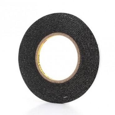 Cinta adhesiva negra extrafina 3M de 6mm de ancho