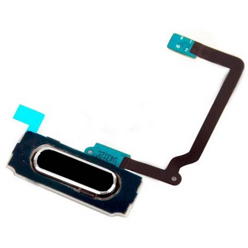 boton home com flex Samsung Galaxy S5 I9600 G900F preto