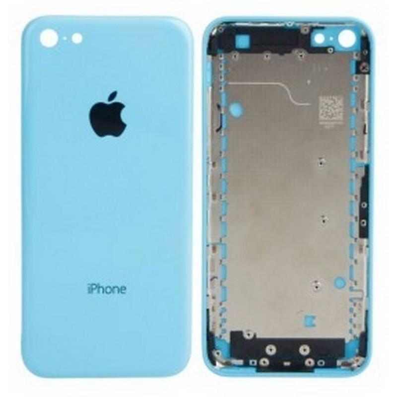 tapa carcaça traseira para iphone 5c em cor azul