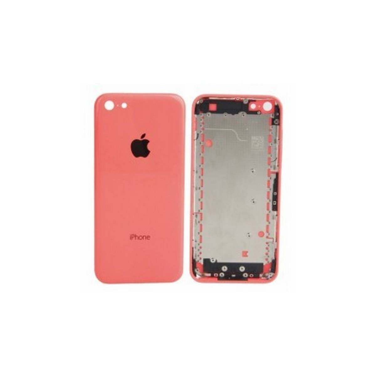 tapa carcasa trasera para iphone 5c en color rosa