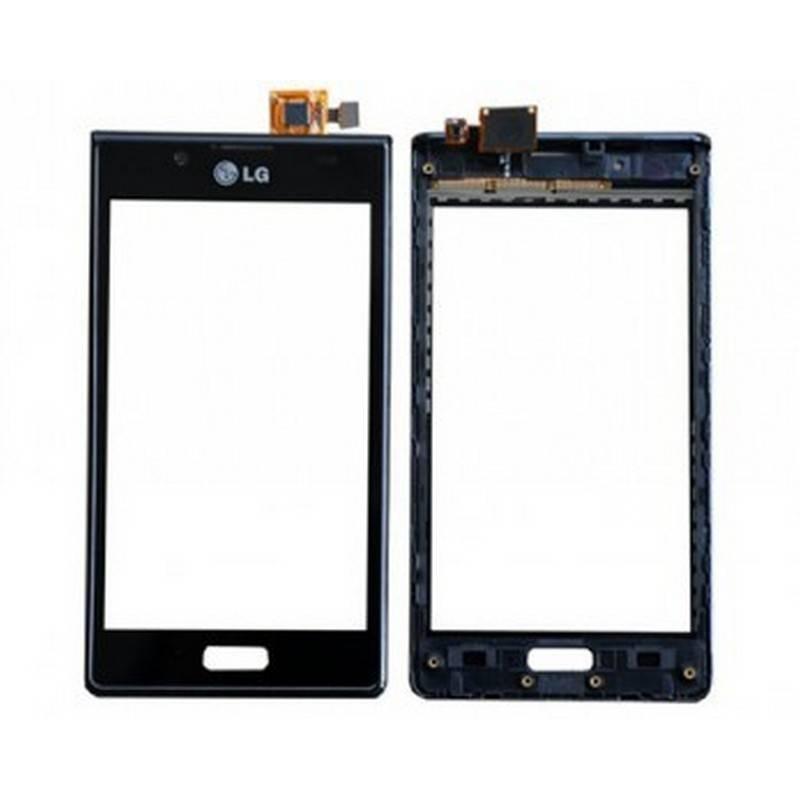 Tactil con marco LG P700 L7 Negra
