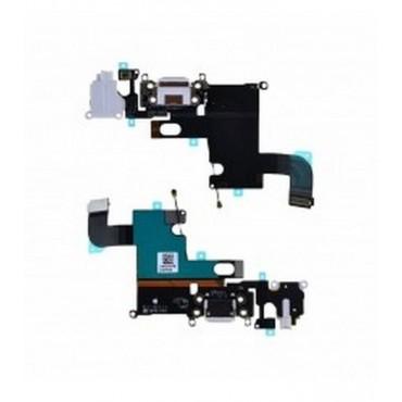 Flex Conector Carga y Micro para iPhone 6 blanco