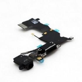 Cabo flex com Conector de carrega Dock fone de ouvido microfono iPhone 5c Preto