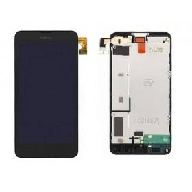 Pantalla Completa con Marco para Nokia Lumia 630 635 Negra