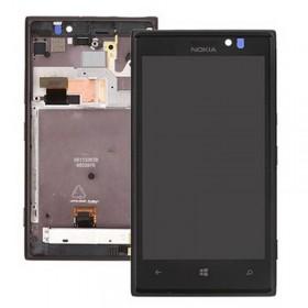 Pantalla Completa con Marco para Nokia Lumia 925 negra