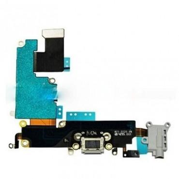 Flex Conector de carga Jack audio gris iPhone 6 Plus