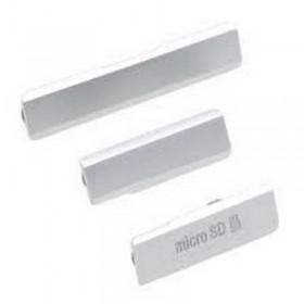 Conjunto de Tapa Lateral para Sony Xperia Z1 cinza