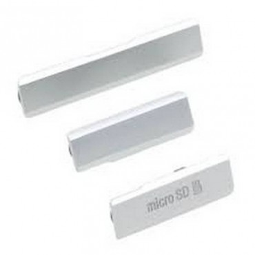 Conjunto de Tapa Lateral para Sony Xperia Z1 gris