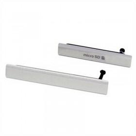 Conjunto de Tapa Lateral para Sony Xperia Z2 en color gris