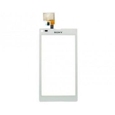 Ecrã tactil para sony xperia L S36H cor branca.
