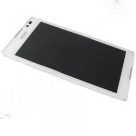 Pantalla completa Sony Xperia C S39H blanco