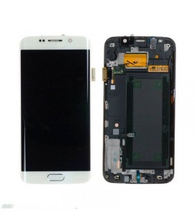 Pantalla Completa con marco Samsung Galaxy S6 EDGE G925F blanco