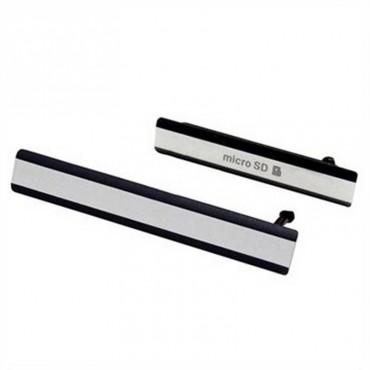 Conjunto de Tapa Lateral para Sony Xperia Z2 en color negro