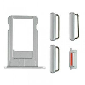Set porta sim y botones laterales iPhone 6 gris
