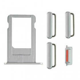 Set porta sim y botones laterales iPhone 6 Plata