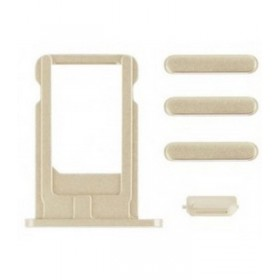 Set porta sim y botones laterales iPhone 6 oro