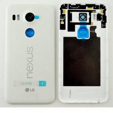 Carcasa Tapa Trasera de Bateria LG Nexus 5X H791 blanca