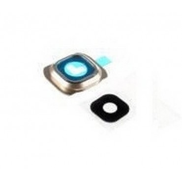 Embellecedor de la Cámara Trasera con lente Samsung Galaxy S6 Edge G925F Oro
