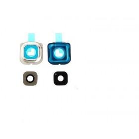 Embellecedor da Câmera Traseira com lente Samsung Galaxy S6 Edge G925F branco