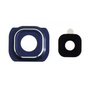 Embellecedor de la Cámara Trasera con lente Samsung Galaxy S6 Edge G925F negro
