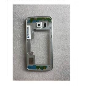 Chasis central para Samsung Galaxy S6 Edge G925F Plata Remanufacturado