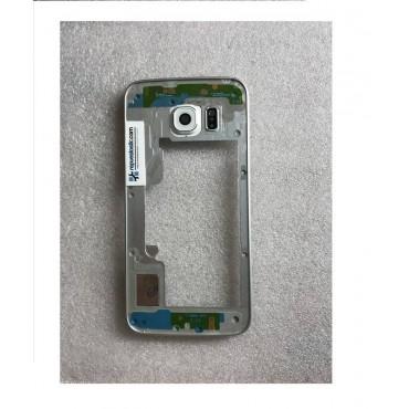 Chasis central para Samsung Galaxy S6 Edge G925F Plata