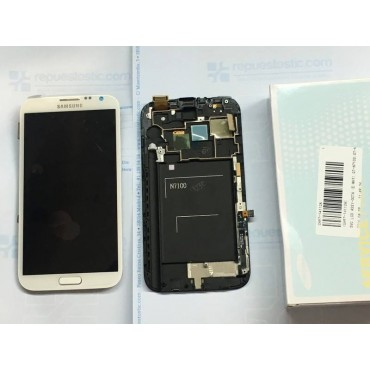 Pantalla Completa Samsung Note 2 N7100 blanca ORIGINAL