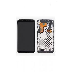Ecrã Motourola Nexus 6 com carcaça frontal, marco em cor preto, XT1100 preta