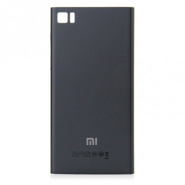 Carcasa trasera negra para Xiaomi Mi3 - Versión: TD-SCDMA