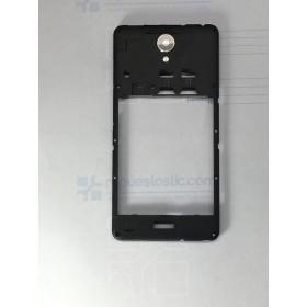 Carcaça central traseira preta para Xiaomi Redmi Note 2