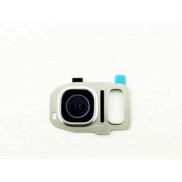 Embellecedor de Camara para Samsung Galaxy S7 SM-G930F,S7 Edge SM-G935F - Plata
