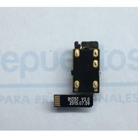 Jack Audio, Subplaca Conector Fone de ouvidoes Original Tablet Bq Aquaris M10 HD e Aquaris M10FHD