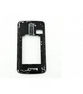 Carcaça intermedia Preta para LG K10 K420N