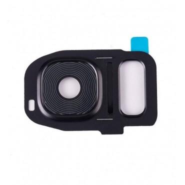Embellecedor de Camara para Samsung Galaxy S7 Edge SM-G935F ,S7 G930F- Negro