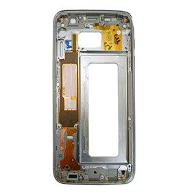 Carcasa central Original para Samsung Galaxy S7 Edge, G935F-Negra remanufacturada