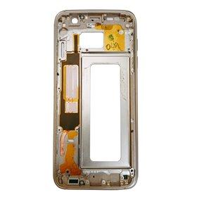 Carcasa central Original para Samsung Galaxy S7 Edge, G935F-Dorada Remanufacturada