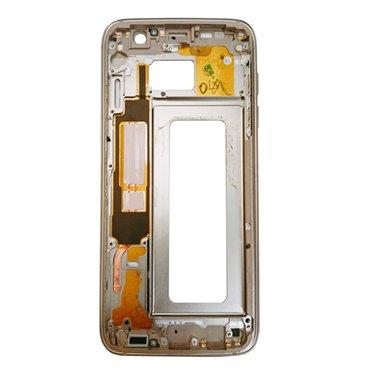 Carcasa central Original para Samsung Galaxy S7 Edge, G935F-Dorada