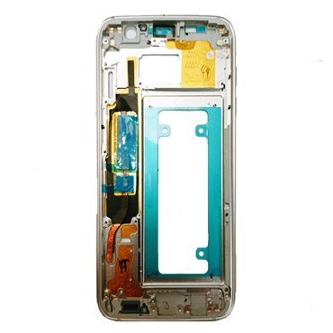 Carcasa central original para Samsung Galaxy S7 Edge, G935F-Blanca