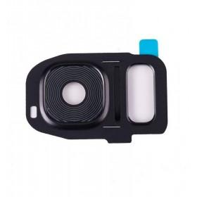 Embellecedor de Camara para Samsung Galaxy S7, SM-G930F, S7 Edge SM-G935F- Negro