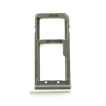 Bandeja SIM y SD Plateada para Samsung Galaxy S7, G930F
