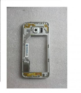 Carcasa Intermedia con Lente Y Buzzer para Samsung Galaxy S6 SM-G920 - Blanca (Remanufacturado )
