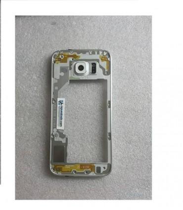 Carcasa Intermedia con Lente y Buzzer para Samsung Galaxy S6 SM-G920 - Blanca