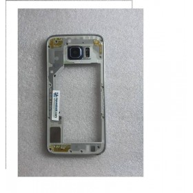 Carcaça Intermedia com Lente Y Buzzer para Samsung Galaxy S6 SM-G920 - Preta (Remanufacturado )