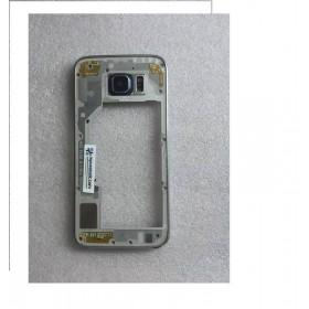Carcasa Intermedia con Lente y Buzzer para Samsung Galaxy S6 SM-G920 - Negra
