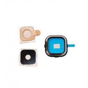 Embellecedor de cámara trasera con lente para Samsung Galaxy A5, A500F Negro